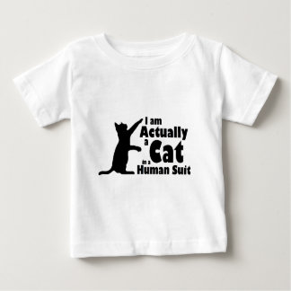 Cat in a human suit baby T-Shirt