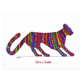 Cat in a Sweater Postcard
