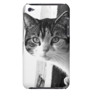 Cat in black and white barely there iPod case