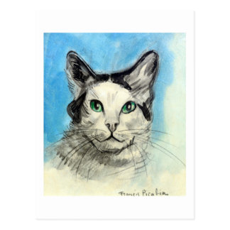Cat in Blue, Francis Picabia Postcard