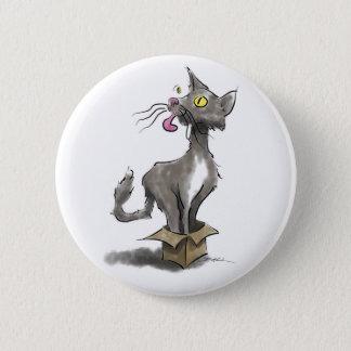 Cat in Box 2 Inch Round Button