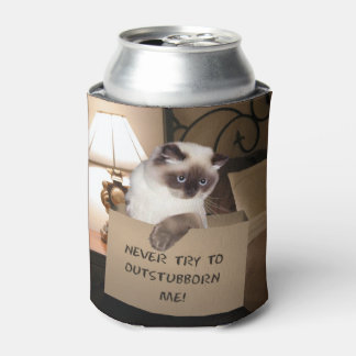 Cat in Box Can Cooler