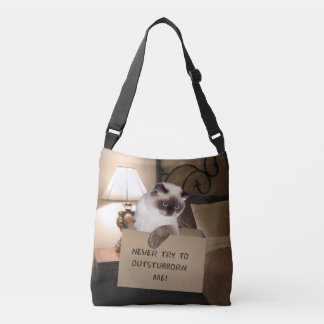 Cat in Box Crossbody Bag