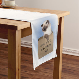 Cat in Box Short Table Runner