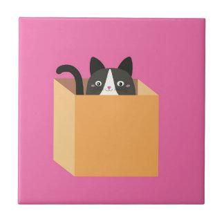 Cat in  box tile