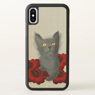 cat in flower garden iPhone x case