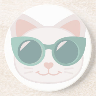 Cat In Glasses Coaster