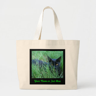 Cat-in-Grass Custom Tote