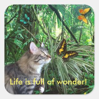 Cat in Jungle Stickers