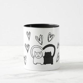 Cat in love mug