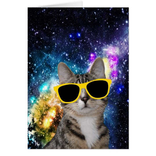 Cat in Outer Space Greeting Card