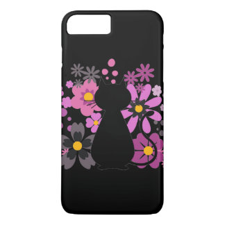 Cat in Pink Flowers IPhone 7+/8+ Barely There Case