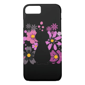 Cat in Pink Flowers IPhone 7/8 Barely There Case