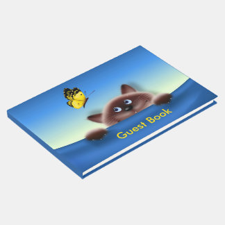 Cat in Pocket Guest Book