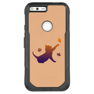 Cat in Silhouette Among the Fall Leaves OtterBox Commuter Google Pixel XL Case