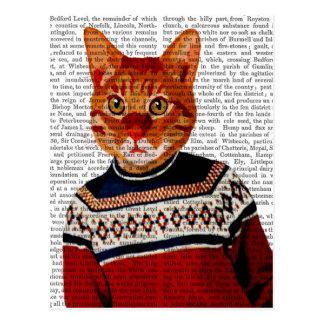 Cat in Ski Sweater 2 Postcard