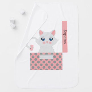 Cat in the box baby blanket
