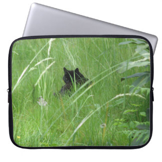 Cat In The Grass Laptop Sleeve