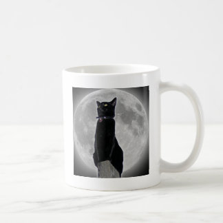 Cat in the Moon Coffee Mug