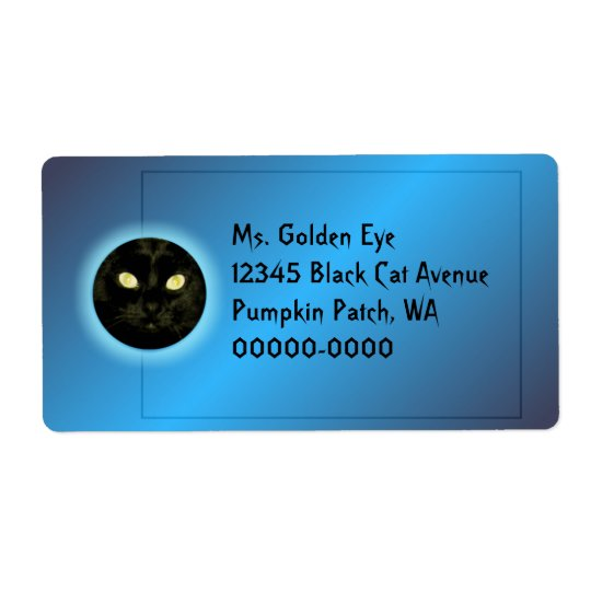 Cat in the Moon Halloween Shipping Labels