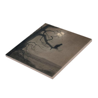Cat in the Moonlight, , Alexandre Steinlen Ceramic Tiles