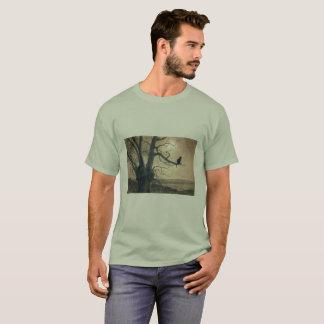 Cat in the Moonlight Men's T Shirt