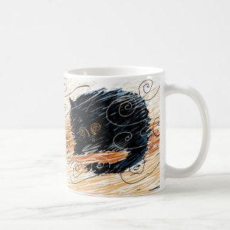 Cat in the wind mug