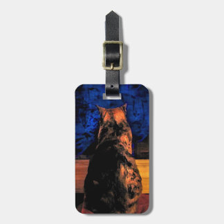 Cat in the Window Luggage Tag