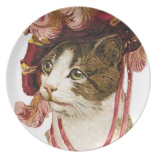 Cat in Victorian Hat Plate