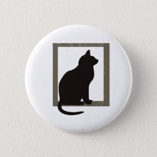 Cat In Window 2 Inch Round Button