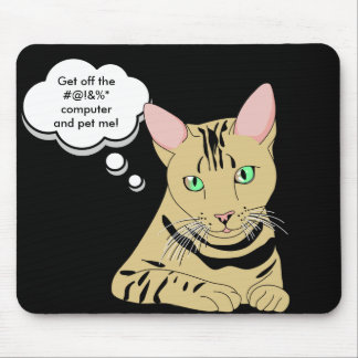 Cat Jokes Humor Mouse Pad