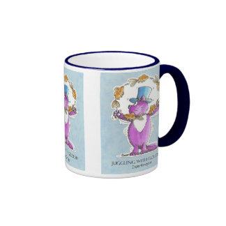 Cat Juggling with Goldfish Mugs