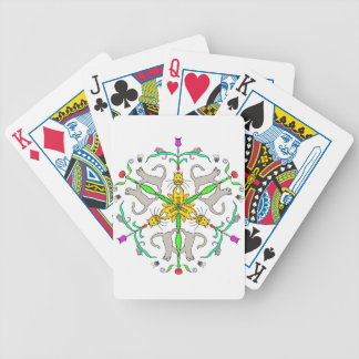 Cat kaliedoscope bicycle playing cards