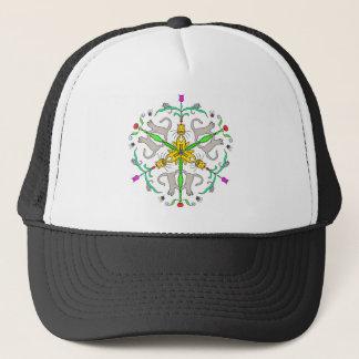 Cat kaliedoscope trucker hat