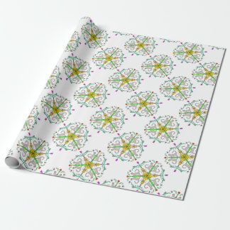 Cat kaliedoscope wrapping paper