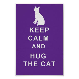 Cat Keep Calm Hug the Cat Poster