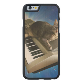 cat keyboard carved maple iPhone 6 case