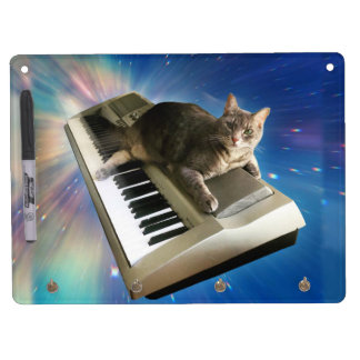 cat keyboard dry erase board with keychain holder