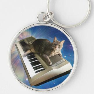 cat keyboard keychain