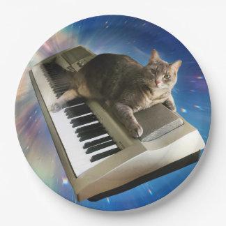 cat keyboard paper plate