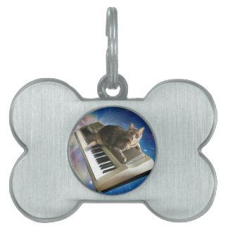 cat keyboard pet name tag