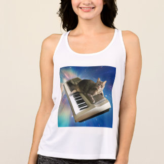 cat keyboard tank top