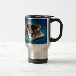 cat keyboard travel mug
