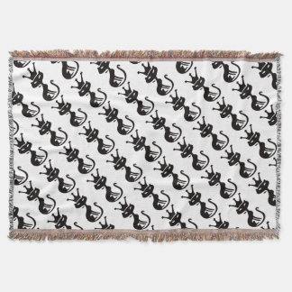 Cat King Throw Blanket
