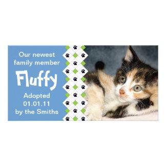 Cat/Kitten Adoption Announcement Photo Greeting Card