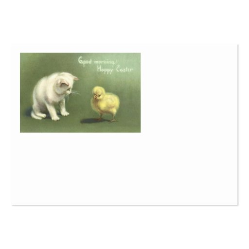 Cat Kitten Easter Chick Business Card Templates
