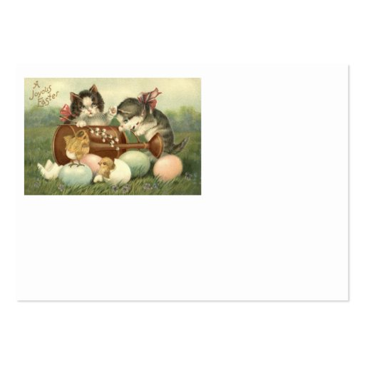 Cat Kitten Easter Colored Painted Egg Chick Business Card
