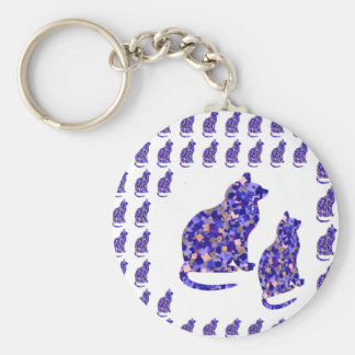 Cat Kittens KIDS Love Template Greetings Gifts FUN Key Chains