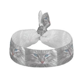 Cat Kitty Blue Eyes Hair Tie