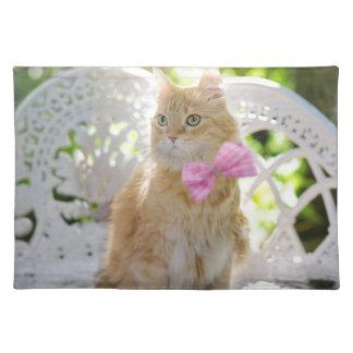 Cat Kitty Feline Summer Sunshine Pet Animal Cute Placemat